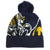 NAVY ALL OVER GOAT BEANIE 4