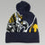 NAVY ALL OVER GOAT BEANIE 2