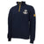 NAVY ANCHOR EMBROIDERED FLEECE 1/4 ZIP (NAVY)