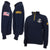 NAVY ANCHOR FLEECE 1/4 ZIP (NAVY)