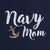 NAVY ANCHOR LADIES MOM SCRIPT V-NECK T-SHIRT (NAVY) 2