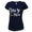 NAVY ANCHOR LADIES MOM SCRIPT V-NECK T-SHIRT (NAVY) 1