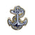 NAVY ANCHOR LAPEL PIN