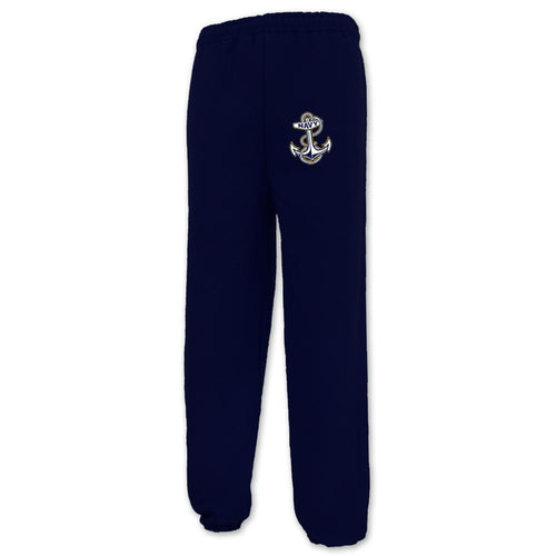 NAVY ANCHOR LOGO CLOSE BOTTOM SWEATPANT