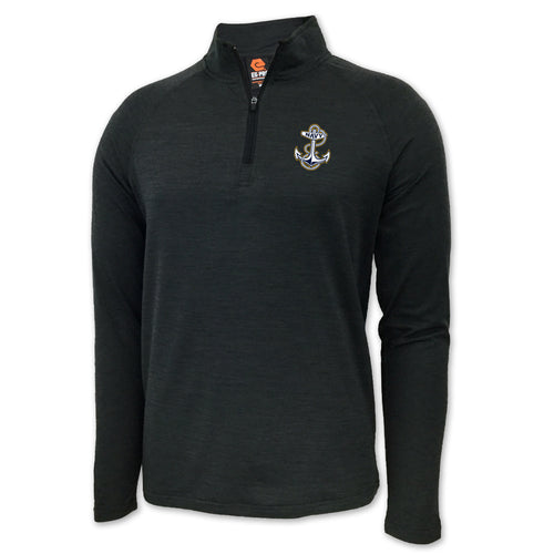 NAVY ANCHOR LOGO PERFORMANCE 1/4 ZIP (GREY)