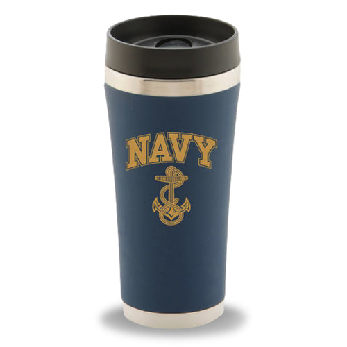NAVY ANCHOR STAINLESS STEEL TUMBLER 2