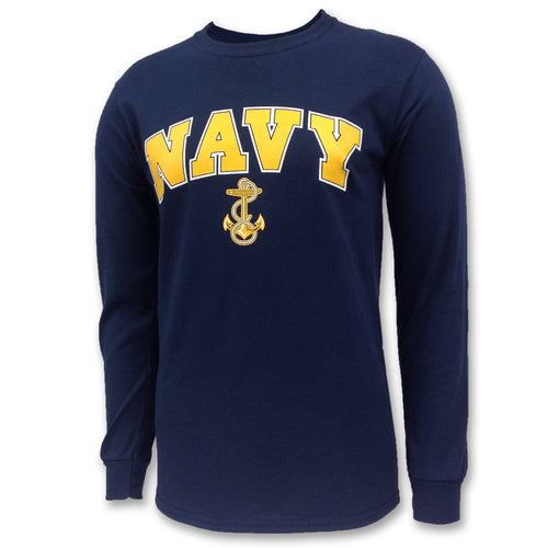NAVY ARCH ANCHOR LONG SLEEVE T 1