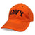 NAVY ARCH TRUCKER HAT (ORANGE) 1