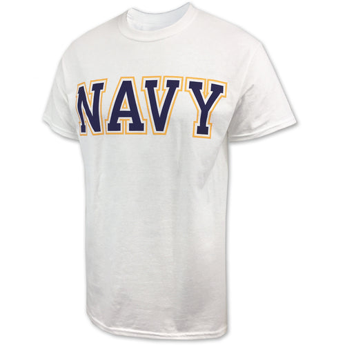 NAVY BOLD CORE T-SHIRT (WHITE) 2