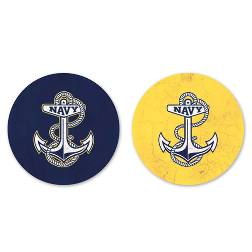 NAVY THIRSTY CAR COASTER 2 PACK 1