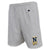 NAVY CHAMPION LACROSSE LOGO COTTON SHORT (GREY)