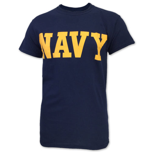 NAVY CORE T-SHIRT (NAVY/GOLD) 4
