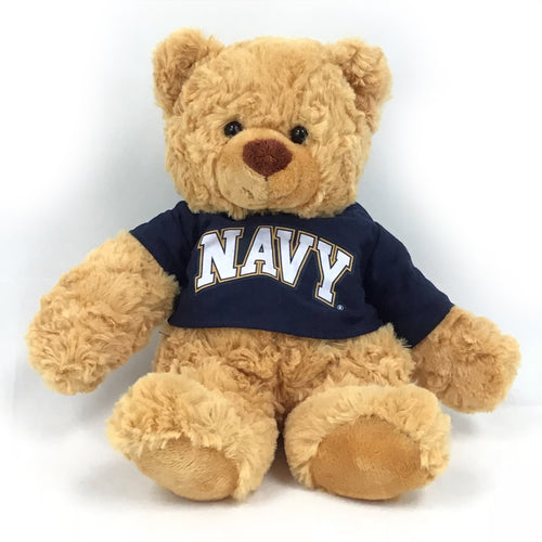NAVY CUDDLE BUDDIES BEAR (BROWN)