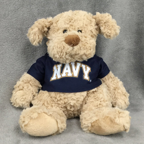 NAVY CUDDLE BUDDIES DOG (BROWN)