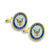 NAVY CUFFLINK SET WITH BOX 1
