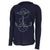 NAVY DISTRESSED ANCHOR LONG SLEEVE HOODIE T (NAVY)