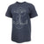 NAVY DISTRESSED ANCHOR T-SHIRT (HEATHER NAVY) 1