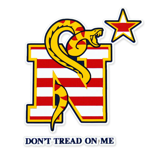 NAVY DONT TREAD ON ME DECAL