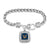NAVY EAGLE CRYSTAL SQUARE BRACELET