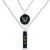 NAVY EAGLE DOUBLE DOWN NECKLACE