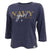 NAVY GIRL LADIES 3/4 SLEEVE T-SHIRT (NAVY) 1