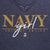NAVY GIRL LADIES LOOSE FIT V-NECK T-SHIRT (NAVY)