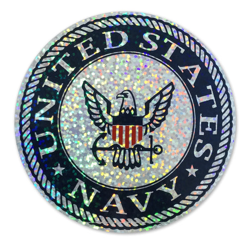 NAVY HOLOGRAPHIC LOGO DECAL