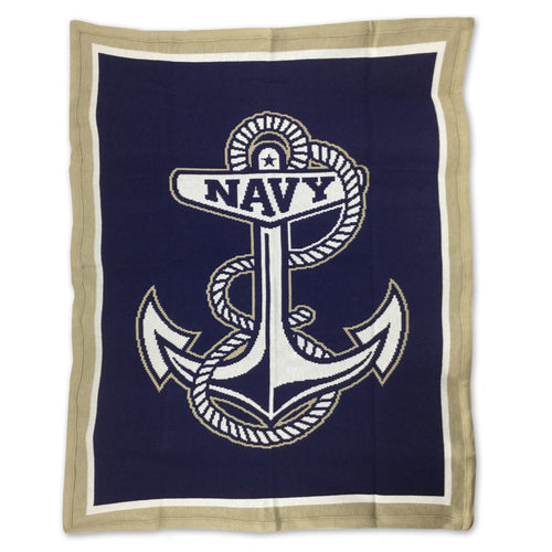 NAVY KNIT BLANKET (NAVY)