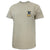 Navy Lacrosse Logo T-Shirt Tan