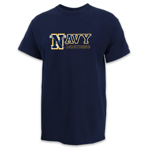 NAVY LACROSSE FULL CHEST LOGO