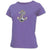 NAVY LADIES ANCHOR LOGO SCOOP NECK T-SHIRT (LAVENDER)