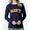 NAVY LADIES ARCH SCOOP NECK LONG SLEEVE T-SHIRT (NAVY) 2