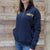 NAVY LADIES DAKOTA QUARTER ZIP PULLOVER (NAVY) 1