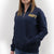 NAVY LADIES DAKOTA QUARTER ZIP PULLOVER (NAVY) 2