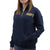 NAVY LADIES DAKOTA QUARTER ZIP PULLOVER (NAVY) 3