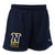 NAVY LADIES LACROSSE LOGO MESH SHORT 2