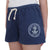 NAVY LADIES WEATHERED TERRY SHORT (WASHED NAVY)