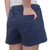 NAVY LADIES WEATHERED TERRY SHORT (WASHED NAVY) 2