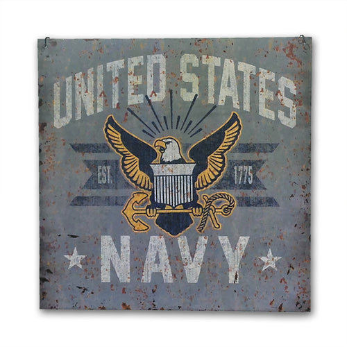 NAVY LARGE VINTAGE SIGN 2