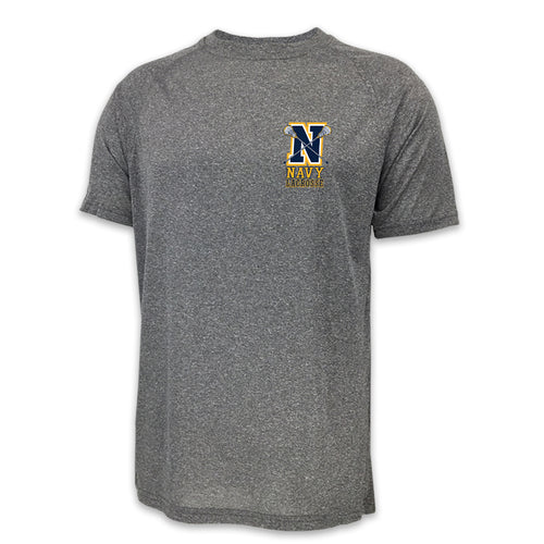 NAVY LACROSSE LOGO PERFORMANCE T (GREY) 2