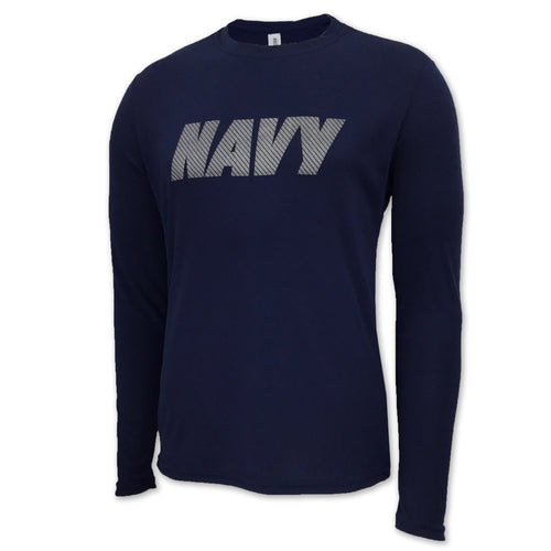 NAVY LONG SLEEVE PERFORMANCE T (NAVY) 2