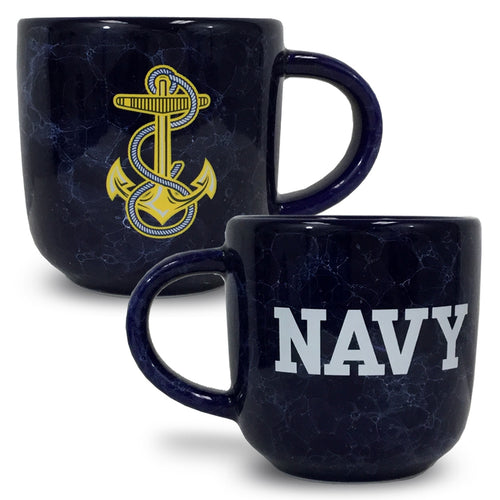 NAVY MARBLED 17 OZ MUG (NAVY) 2