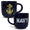 NAVY MARBLED 17 OZ MUG (NAVY) 1