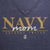 NAVY MOM LADIES LOOSE FIT V-NECK T-SHIRT (NAVY)