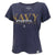 NAVY MOM LADIES LOOSE FIT V-NECK T-SHIRT (NAVY) 1