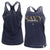 NAVY MOM LADIES RACERBACK TANK (NAVY) 3