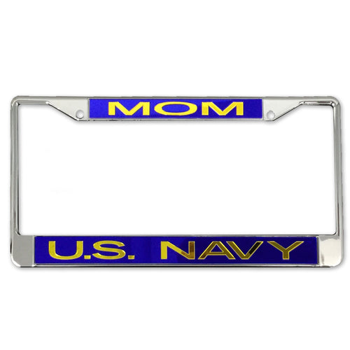 NAVY MOM LICENSE PLATE FRAME 3