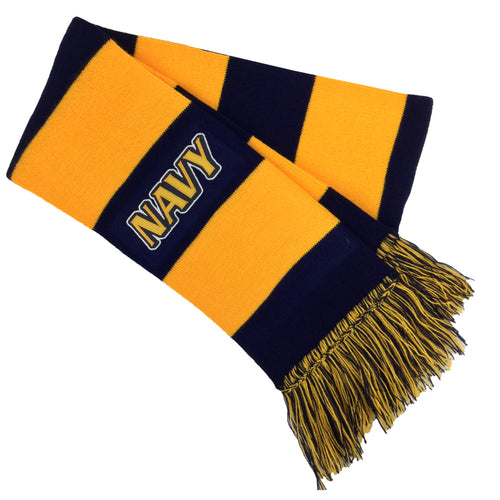 NAVY RALLY TWILL SCARF