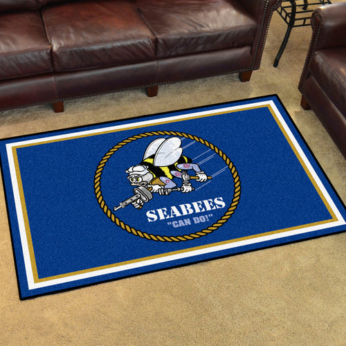 NAVY SEABEES RUG (4'X 6')