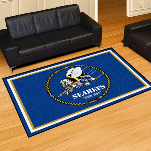 NAVY SEABEES RUG (5'X 8')